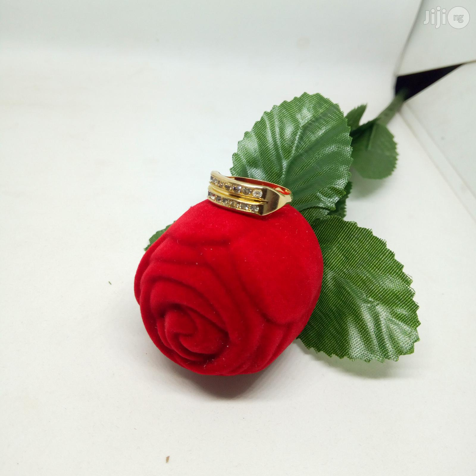 Brand New Original Romania Gold Engagement Ring | Wedding Wear & Accessories for sale in Ojodu, Lagos State, Nigeria