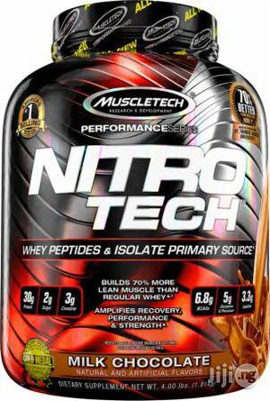 NITRO- NITRO-TECH Contains Protein Sourced Primarily From Whey Protein Isolate – One of the Cleanest and Purest Prot   Vitamins & Supplements for sale in Lagos State