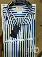 Original Brand TM Lewin Shirts, Blue And Black Stripped | Clothing for sale in Lagos State, Lagos Island