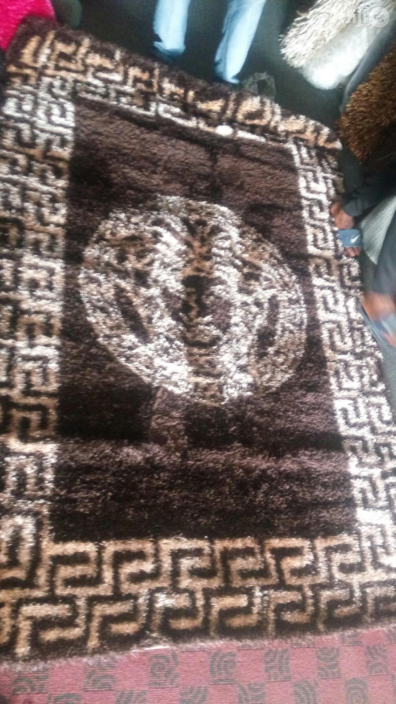 5×7 Designer Vip Shaggy Center Rug Chocolate and Champagne | Home Accessories for sale in Yaba, Lagos State, Nigeria