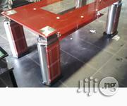 Unique Lovely Glass Center Table With 2 Side Stools | Furniture for sale in Lagos State, Ojo