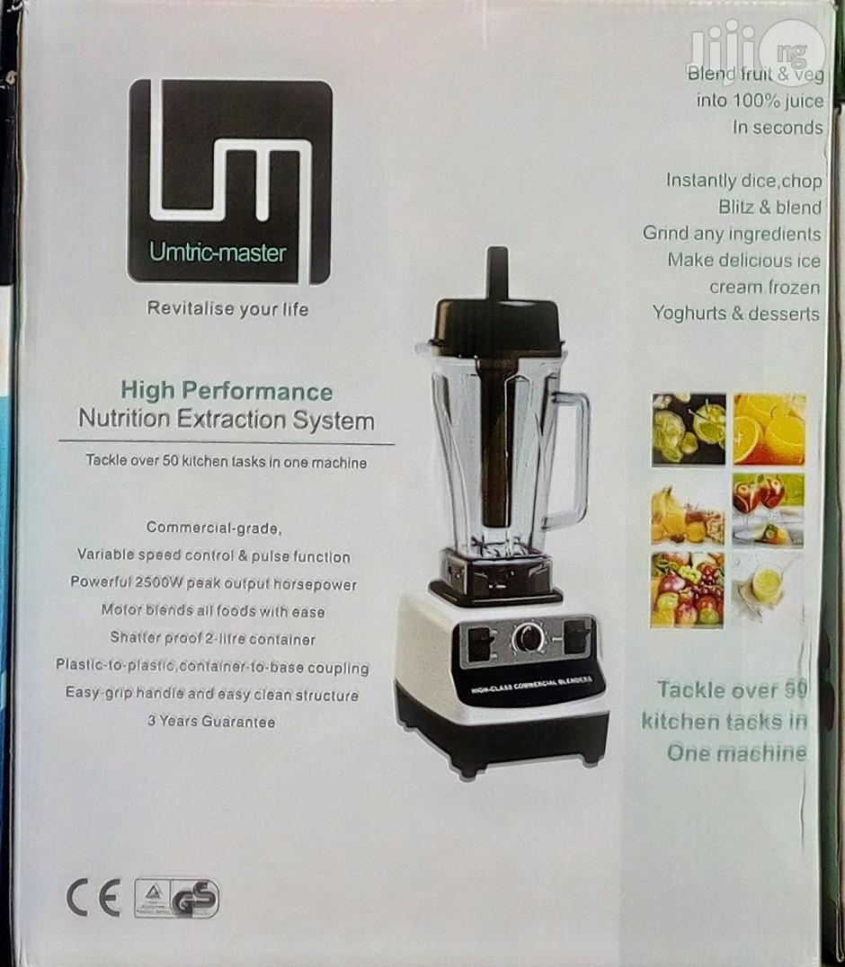 Archive: Umtric Master High Performance Nutrition Extraction/Commercial Blender