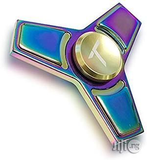USA Trianium Rainbow Metal Fidget Spinner Focus Finger Toy | Toys for sale in Lagos State, Alimosho