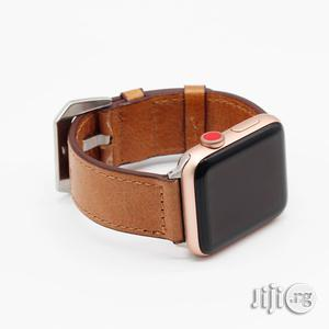 Leather Watch Strap 42mm And 38mm For Apple Watch Light Brown | Smart Watches & Trackers for sale in Lagos State, Ikeja
