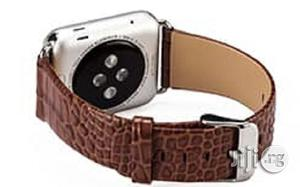 Crocodile Leather Watch Strap 42mm For Apple Watch Brown | Smart Watches & Trackers for sale in Lagos State, Ikeja