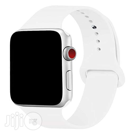 38mm And 42mm Silicone Replacement Band For Iwatch | Smart Watches & Trackers for sale in Ikeja, Lagos State, Nigeria