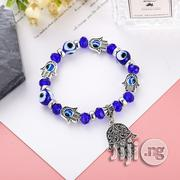 Blue Eyes Bracelet With 5 Hands of Hamsa-8mm Beading | Jewelry for sale in Lagos State, Ikeja