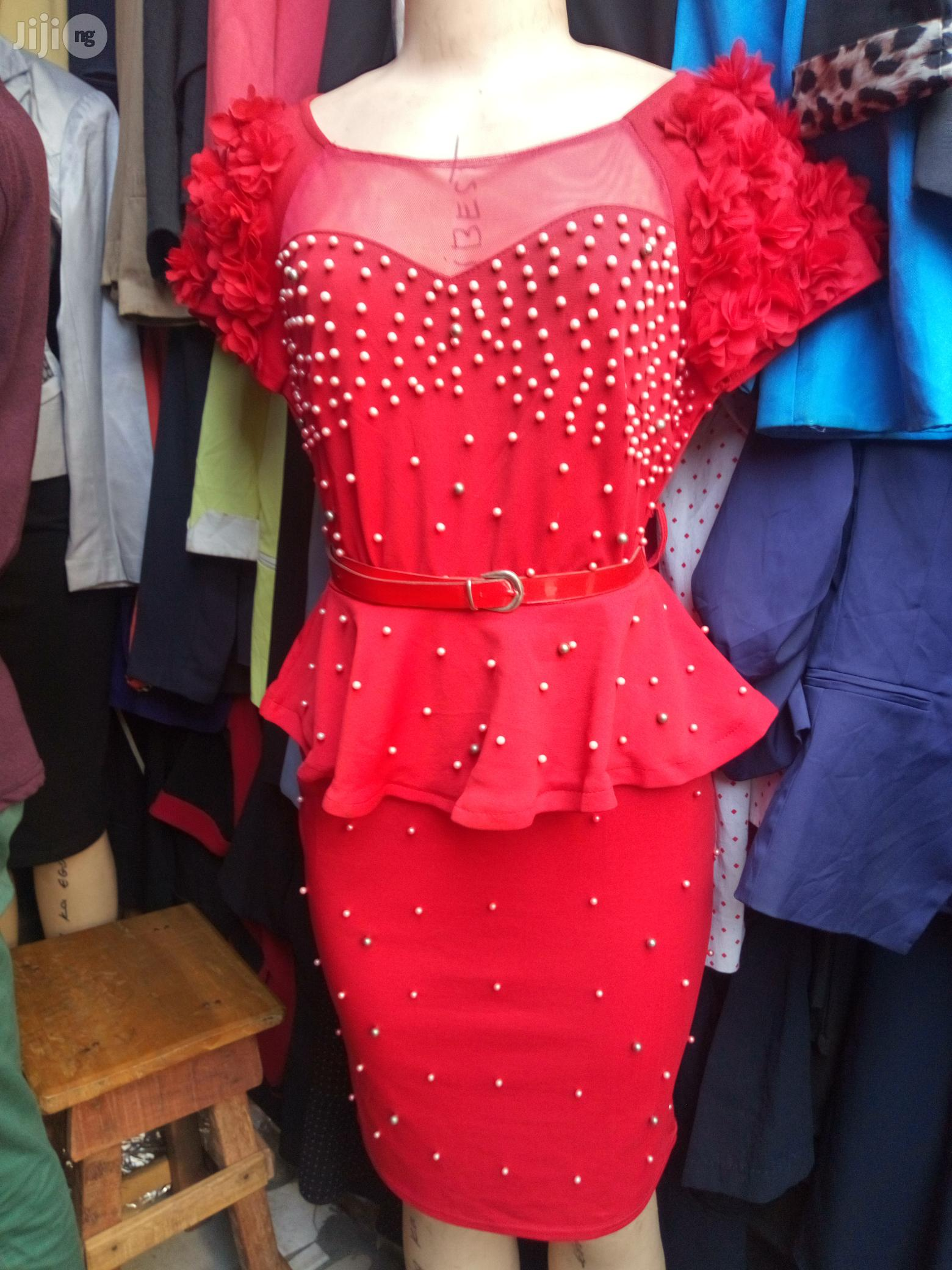 Fancy Dress / Gown With Beads for Occasions   Clothing for sale in Ikeja, Lagos State, Nigeria