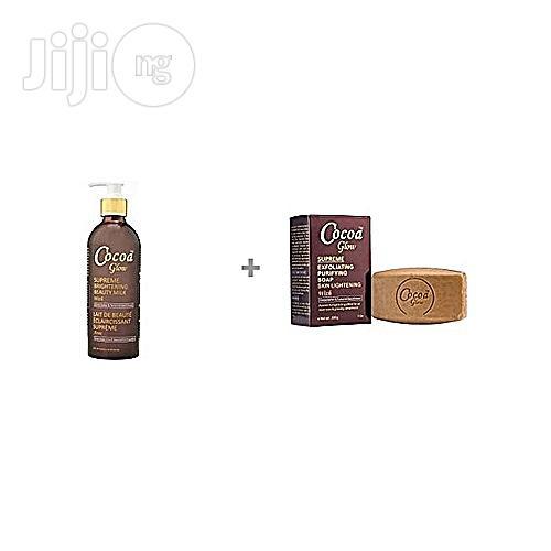 Cocoa Glow Supreme Brightening Beauty Milk + Exfoliating Soap