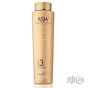 Fair White 3: Gold Rejuvenating Moisture Lotion 500ml | Skin Care for sale in Lagos State, Ojo