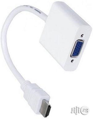 HDMI To VGA Cable HDMI Cable   Accessories & Supplies for Electronics for sale in Lagos State, Ikeja