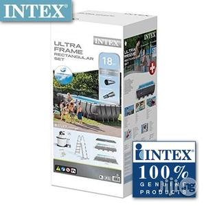 Intex 18ft by 9ft Rectangular Ultra Frame Pool With All Accessories   Sports Equipment for sale in Rivers State, Port-Harcourt