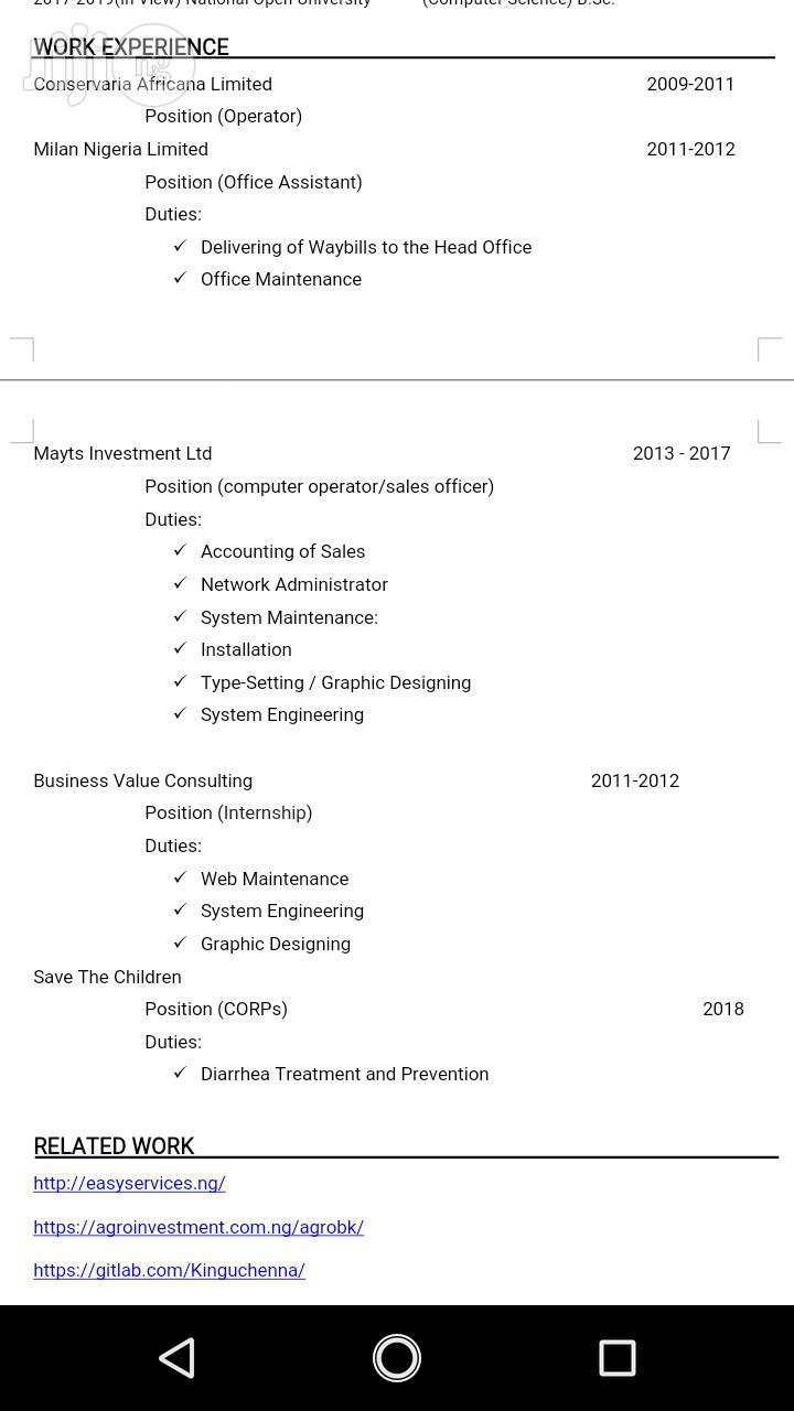 Website Designer And Blogger | Computing & IT CVs for sale in Umuahia, Abia State, Nigeria