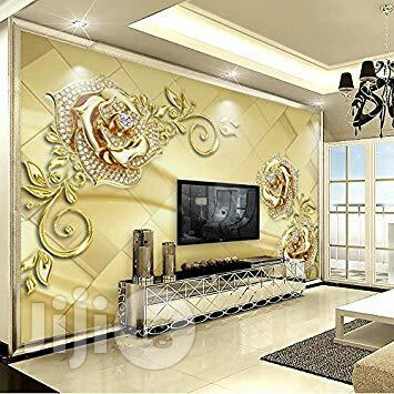 3D Epoxy Floor And Wall Paper Interiors
