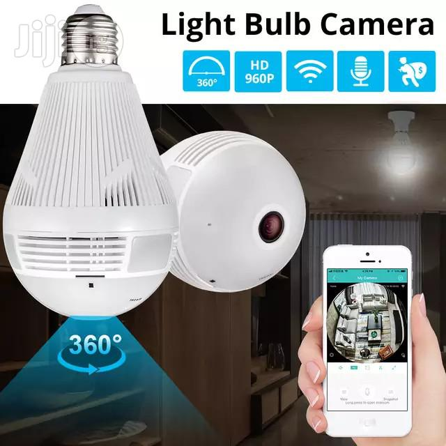 Archive: LED Light 960P Wireless Panoramic Home Security Wifi CCTV Fisheye Bulb Lamp IP Camera 360