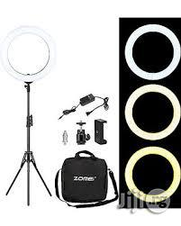 Ring Light With Stand + Holder + Adapter + Phone Holder | Accessories & Supplies for Electronics for sale in Lagos State, Lagos Island (Eko)