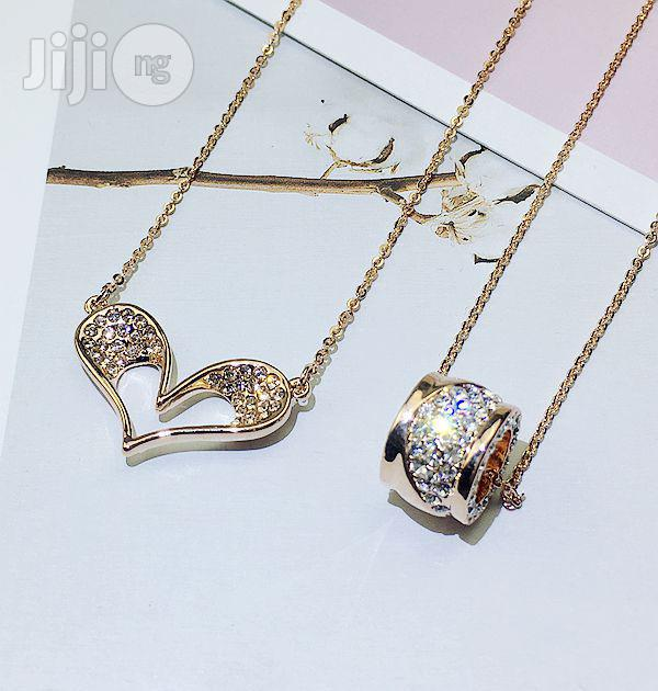 Micro Inlaid Zircon Clavicle Chain | Jewelry for sale in Ojodu, Lagos State, Nigeria