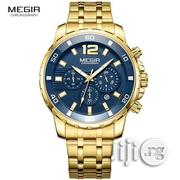 Megir Men's Gold Stainless Steel Watch | Watches for sale in Lagos State, Alimosho