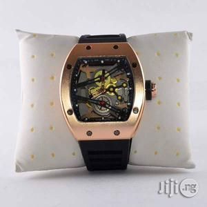 Richard Mille Rose Gold Rubber Strap Watch | Watches for sale in Lagos State, Lagos Island (Eko)