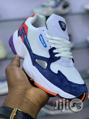 """Adidas Falcon """"Crystal White/Collegiate Navy 