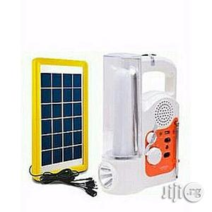 Lontor Rechargeable Lamp & Radio With USB + Solar Panel | Solar Energy for sale in Lagos State, Ikeja
