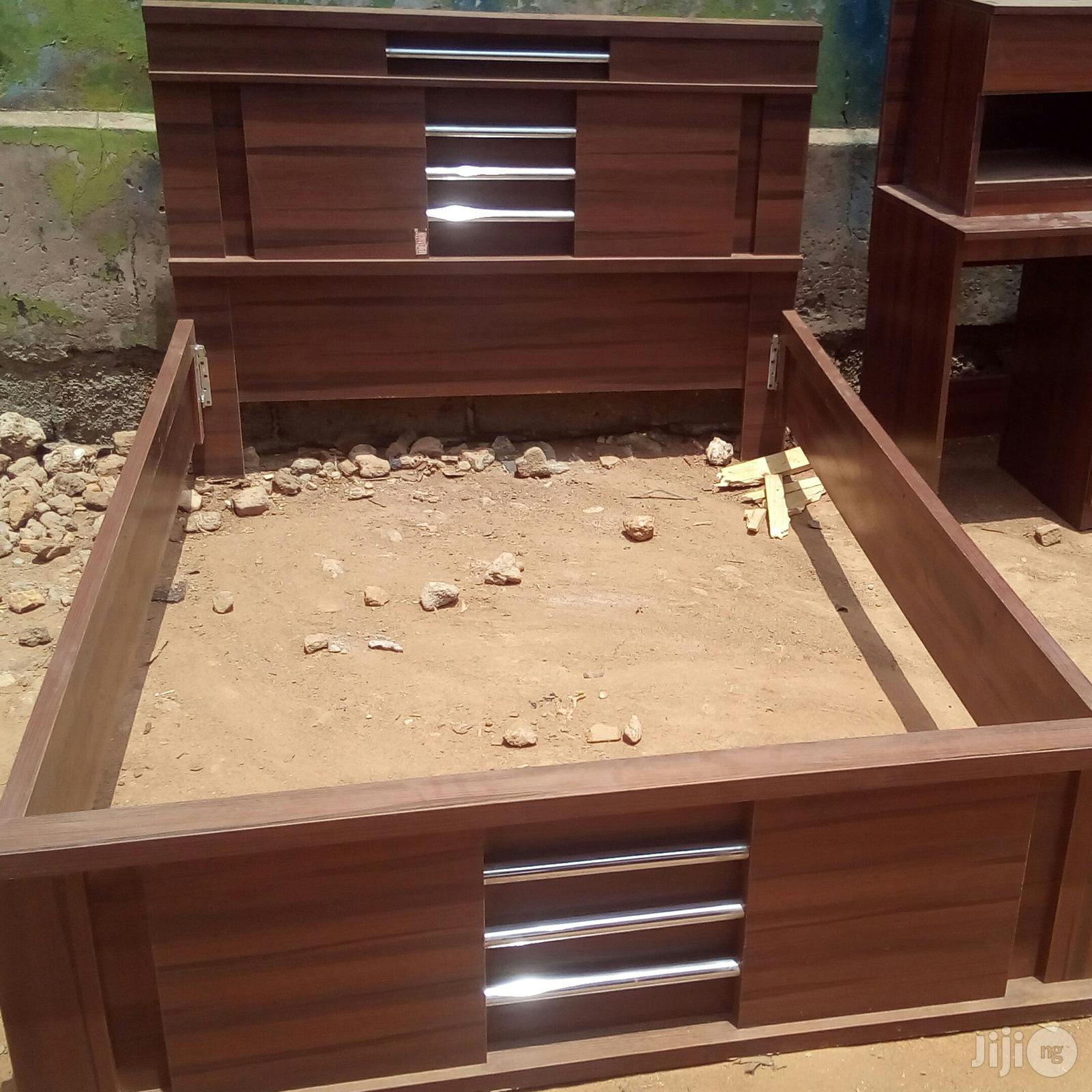 Archive Queen S Size Bed Frames With Bedside Drawer Stool In Lagos State Furniture Prefix E Jiji Ng