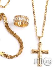 Long Chain With Cross Pendant Brazilian Steel | Jewelry for sale in Lagos State