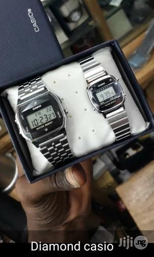 Casio Diamond Vintage Digital Chain Wrist Watch | Watches for sale in Lagos State, Lagos Island (Eko)