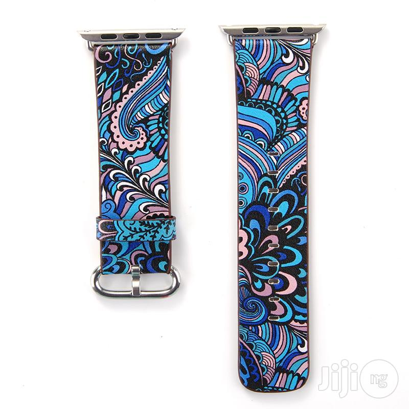 Leather Band Strap For Iwatch 42mm Series 4/5 Prints Vintage Floral