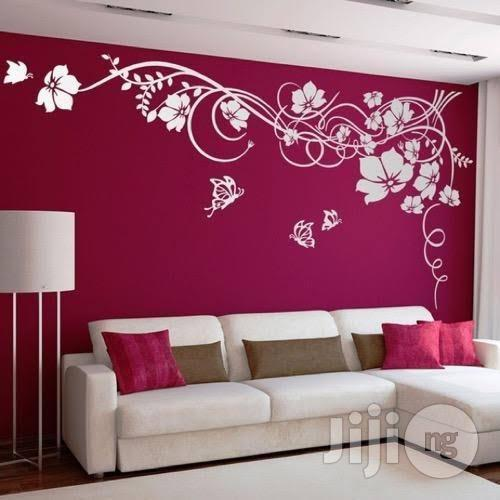 House And Office Painting Interior Decoration Wall Art Designs Wallpaper Installation | Building & Trades Services for sale in Ajah, Lagos State, Nigeria