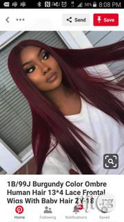 Burgundy Colour Ombre With Frontal | Hair Beauty for sale in Lagos State, Ikeja