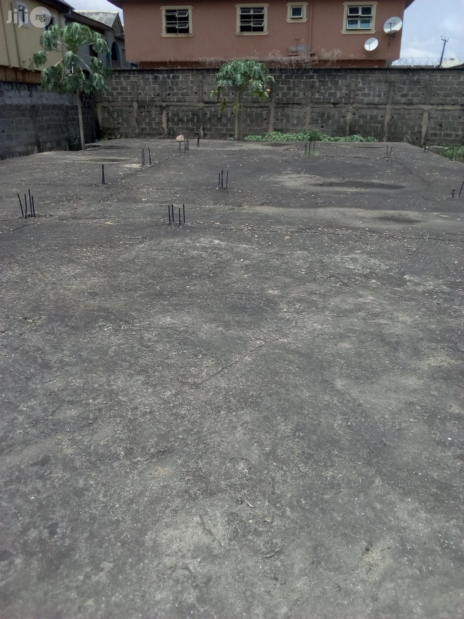 Full Plot of Land With German Floor Upstairs Foundation for Sale