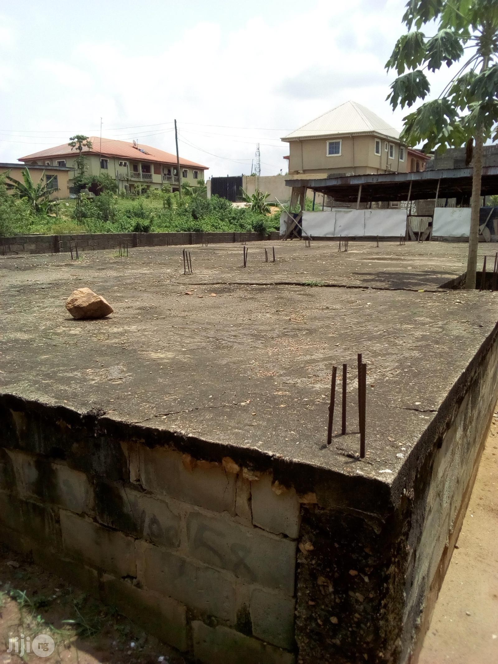 Full Plot of Land With German Floor Upstairs Foundation for Sale | Land & Plots For Sale for sale in Ojo, Lagos State, Nigeria