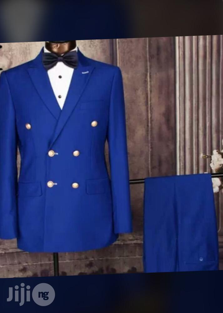 Double Breasted Slim Fit Men Suit