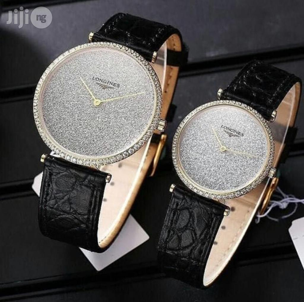 Archive: Longines Couple Leather Wristwatch