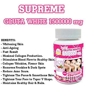 Gluta White Glutathione Skin Whitening and Anti-Ageing Pills - 1500000mg   Skin Care for sale in Lagos State, Ojo