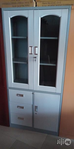 Imported Quality Half Glass Metal Cabinet   Furniture for sale in Lagos State, Ojo