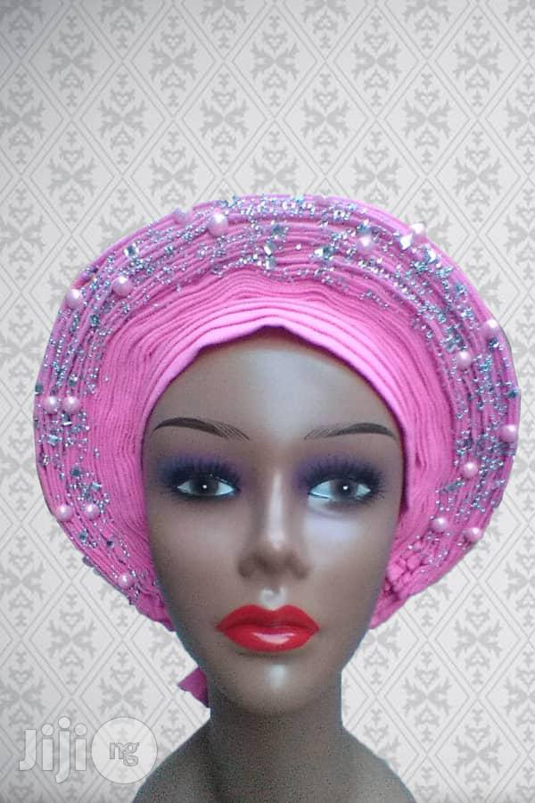 Auto Gele With Embellishments