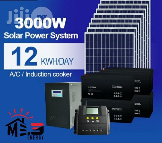 Solar Energy System 20kw Whole House Solar Power System For Home 3000W