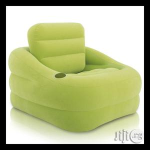 Intex Air Chair Green With Pump   Furniture for sale in Lagos State, Abule Egba