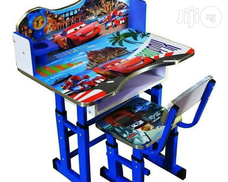 Kids Character Chiar And Table Blue