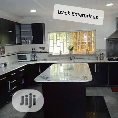 Kitchen With Customized Marble Top