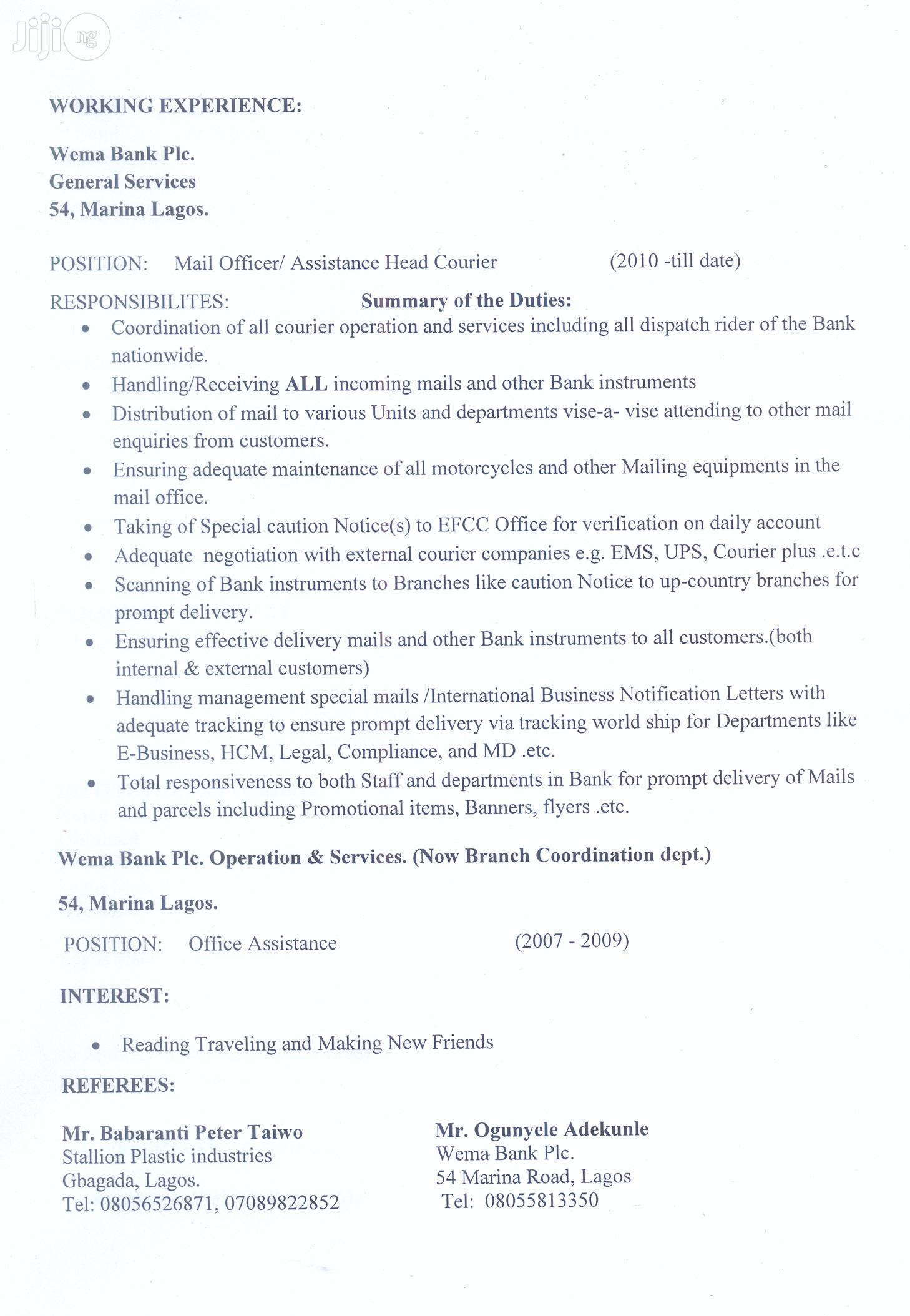 Accountant CV | Accounting & Finance CVs for sale in Ikorodu, Lagos State, Nigeria