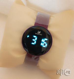 Swarovski Digital Purple Net Chain Watch for Women's | Watches for sale in Lagos State, Lagos Island (Eko)
