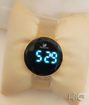 Swarovski Digital Gold Net Chain Watch for Women's | Watches for sale in Lagos State, Lagos Island (Eko)