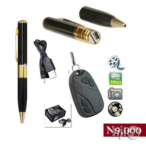 Spy Camera Pen Recorder Plus Spy Camera Key Chain   Security & Surveillance for sale in Lagos State, Ikeja