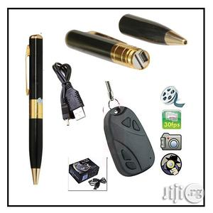 Spy Camera Key Chain With Spy Camera Pen Recorder | Security & Surveillance for sale in Lagos State, Ikeja