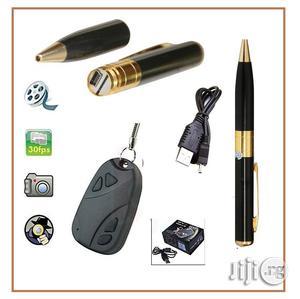 Car Key Spy Hidden Camera Chain Holder Plus Spy HD Cam Pen   Security & Surveillance for sale in Lagos State, Ikeja