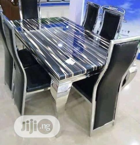 Quality 6 Seaters Marble Dining Table (Location Is Lagos)
