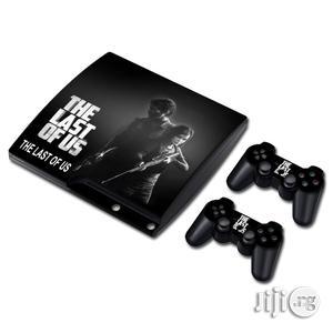 THE LAST OF US Skin Sticker Decal For PS3 Slim Playstation 3 Console And Controllers For PS3 | Accessories & Supplies for Electronics for sale in Lagos State, Ifako-Ijaiye